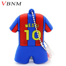 VBNM sports fashion cool jersey Messi pen drive football series usb flash drive 4GB 8GB 16GB 32GB cartoon chains gift(China)