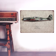 European Retro style The plane sign board Wall stickers metal iron crafts pictures Furnishing articles painting draw bar house