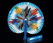 [ Fly Eagle ] Lot of 100 Tropical Fish Paper Folding Fans Luau Beach Party Favors Free Shipping
