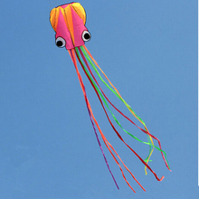 Software Octopus Kite Flying 5.5m Colorful Vlieger Aquilone Travel Waterproof Easy Portable 3D Nylon Kites Octopus Children Toy