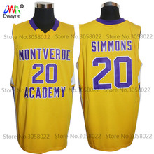 New Ben Simmons Jerseys #20 Montverde Academy Eagles HS Mens Cheap Throwback Basketball Jersey Stitched yellow Vintage Shirts(China)
