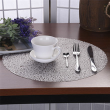 Round Coasters EVA Transparent Crystal Dining Table Mat Non-slip Plate Placemat Insulation Pad 38cm(China)