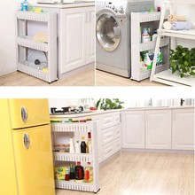Moving Rack Kitchen Storage Shelf Wall Cabinets Bedroom Bathroom Organizer ASLT Free Shipping