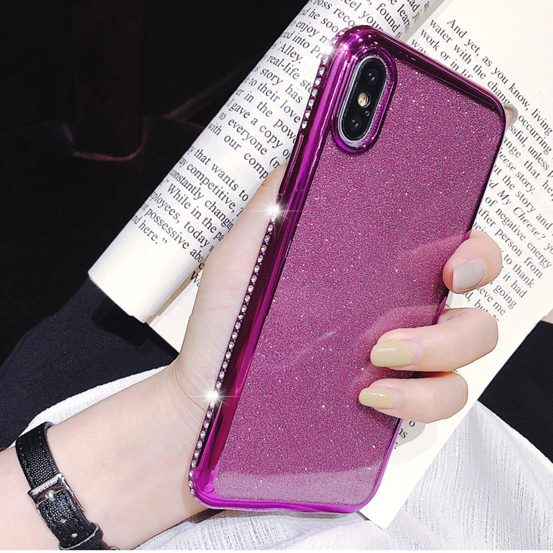 Rhinestone Glitter Case for Apple iphone XS MAX XR 10 X 7 8 Plus 6 S 6s Soft Silicone TPU Diamond Sexy Girl Protector Back Cover (3)