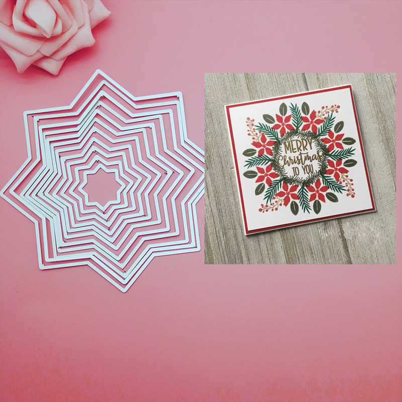 METAL CUTTING DIES 2019 NEW Nesting Wreath Builder up Metal  Cutting die for Scrapbook craft card punch cutter