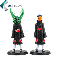 Naruto Nendoroid Akatsuki Zetsu Uchiha Itachi PVC Action Figures Plastic Toys Anime Model Collection Minifigures Dolls 2pcs/set