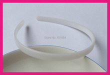 20PCS 10mm White Plain Flat Plastic Hair Headbands no teeth at eco-friendly material,hair accesories for girls(China)