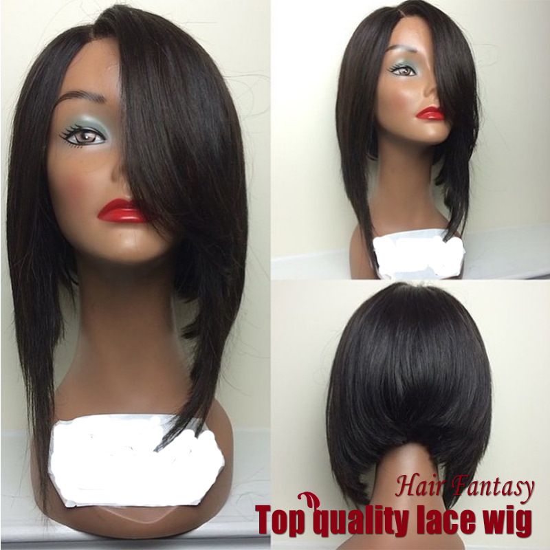 Wholesale 180% Density Straight Bob Wigs Synthetic Lace Front Wigs Side Part Glueless Heat Resistant Hair Wigs Fast Shipping<br><br>Aliexpress