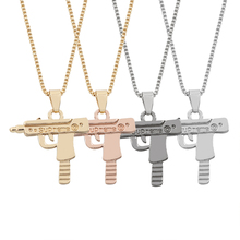 2017 New Bad Girl SUPREME Necklace Hiphop Unisex Cool Pistol Necklaces Gun Pendant For Men Women Gifts 4 Colors
