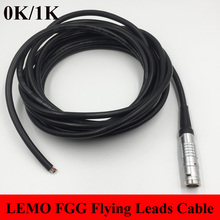 LEMO Connector FGG 0K 1K 2 3 4 5 6 7 8 9 10 14 16 Pin Connector Welding Cable 1M RRI MINI Camera Power Flying Leads Cable
