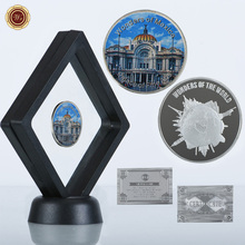 WR Palace of Fine Arts Challenge Metal Coin Home Decoration Collectible Mexico Landscape Commemorative Coin with Nice Stand