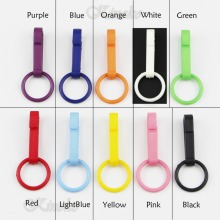 100pcs/Pack Mixed Colors in Colorful Gloves Hook Plastic Buckles Snap Hook With O-Ring #A013