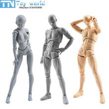 2017 SHF Artist Movable Limbs Male Female 13cm PVC Sketch model Toy Figure Model Mannequin bjd Art Sketch Draw Action Figures