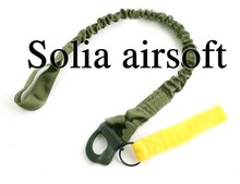 Quick Release Tactical Protective Sling Lanyard Safety Line Climbing Rope Olive Drab(China)