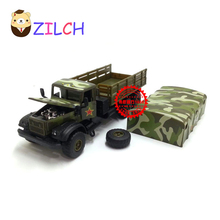 1:43 Russian military transport troops alloy car model in original box pull back muical flashing toy for children(China)