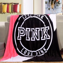 2017 Hot Sale Kintting Blankets Pink VS Secret Blanket Manta Fleece Blanket Sofa/Bed/Plane Travel Plaids Bedding Set(China)