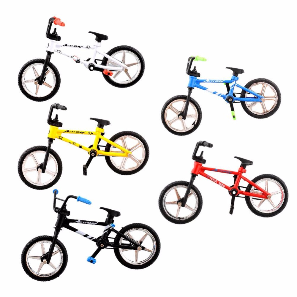 Mini Fuctional Finger Mountain Bike BMX Fixie Bicycle Boy Toy Creative Game Workmanship Toy New Wholesale(China)