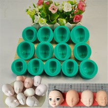 13Pcs/Lot Dolls Face Silicone Fondant Mould Cookies Dessert Cookies Molds Kitchen Bakery Baking Decorating Utensils Houseware