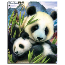 The Panda Love 40x30CM Diamond Embroidery Wall Decor Diy Diamond Painting Full Rhinestone Cross Stitch Kits Needlework 16R701