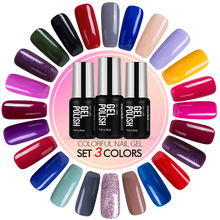 Modelones Hot 60 Colors Gel Polish Led Lamp French Manicure UV Nail Gel Polish Soak off UV Nail Polish Vernis Semi Permanent Gel(China)