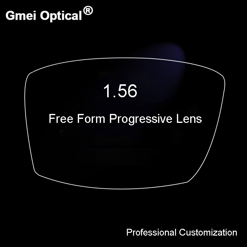 1.56 Digital Free Form Progressive No-Line Multi-Focal Prescription Customized Optical Lenses With Anti-Reflection Coating 2 Pcs(China (Mainland))