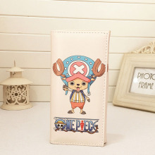 New Women Men Zipper and Hasp Rectangular Long Purse Fresh And Cartoon One Piece Wallet Purse Card Bag BB0063(China)