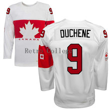 Embroidery stitching retro throwback #9 Matt Duchene Team Canada Hockey jersey Customize any size player name number(China)