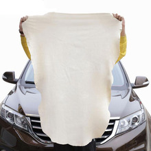 60*45CM Super Absorbent Lint Free  Artificial Suede Chamois PU Cloth Microfiber Drying Towel For Car Glass Paint Drying