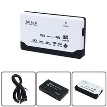 USB 2.0 Card Reader for SD XD MMC MS CF  TF Micro SD M2 Adapter High Quality mini card reader Black White