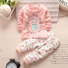 New Baby Clothing set Kids Girls Boys Clothes Long Sleeve Shirt+Pants 2pcs suit Cotton Baby Cartoon Clothing set LA985016(China)
