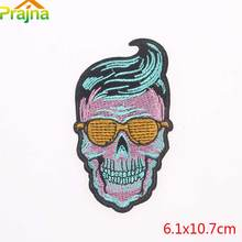 1pcs Alien Patch Letters Custom Embroidered Patch Applique Shirt Jackets Iron On Patches for Clothes Skull Patch Badge A31(China)