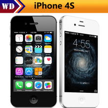 "Original Unlocked Apple iphone 4S Cell phones 3.5"" Retina IPS 16GB ROM Mobile Phone 8MP 1080P WCDMA GPS IOS Mobile Phone(China)"