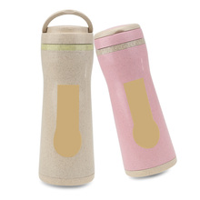 Buy 380ml Water Bottle Travel Eco-friendly Wheat Straw Drinking bottles Sealing Portable Blue Green Pink Beige for $5.76 in AliExpress store