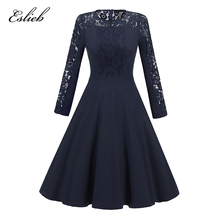 Eslieb Cocktail Dresses Simple A-Line V-Neckline lace Cute Summer Women 2018 Short Vestidos Sexy Women Cocktail Dresses CD005(China)