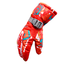 Winter Outdoor Ski Snowboard Gloves Professional Windproof Waterproof Print Gloves for Women(China)