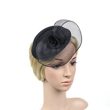 Charm Wedding Fascinator Hat Women Linen Hair Ornaments Headpiece Bridal Wedding Floral Fascinator Accessories Gift(China)