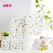 2017 Newborn Baby Clothing 5pcs Sets Baby Clothing Set 100% Cotton Designed Kits Baby Girl Boy Clothes for Underwear 0-3M(China)