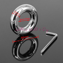 Buy 15mm Thick Heavy Metal Screw Locking Penis Ring Stainless Steel Cock Ring Scrotum Testicle Lock Ball Stretcher Sex Toys Men