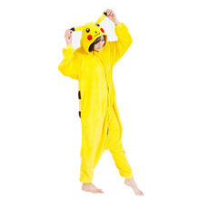 Pokemon Pikachuu One Piece Cosplay Costume Onesies Pajamas Jumpsuit Hoodies Adults Cosplay Costumes for Halloween and Carnival