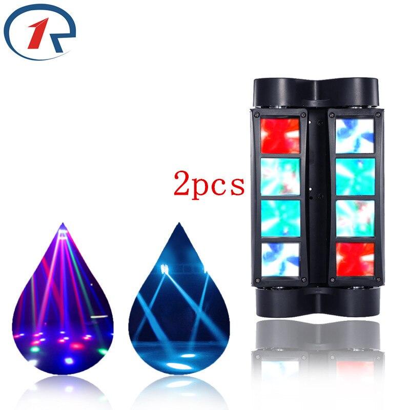 ZjRight 2pcs/lot 45W colorful Moving Head beam effect lights 8 LED profession DMX512 concert stage light ktv bar disco dj light<br><br>Aliexpress