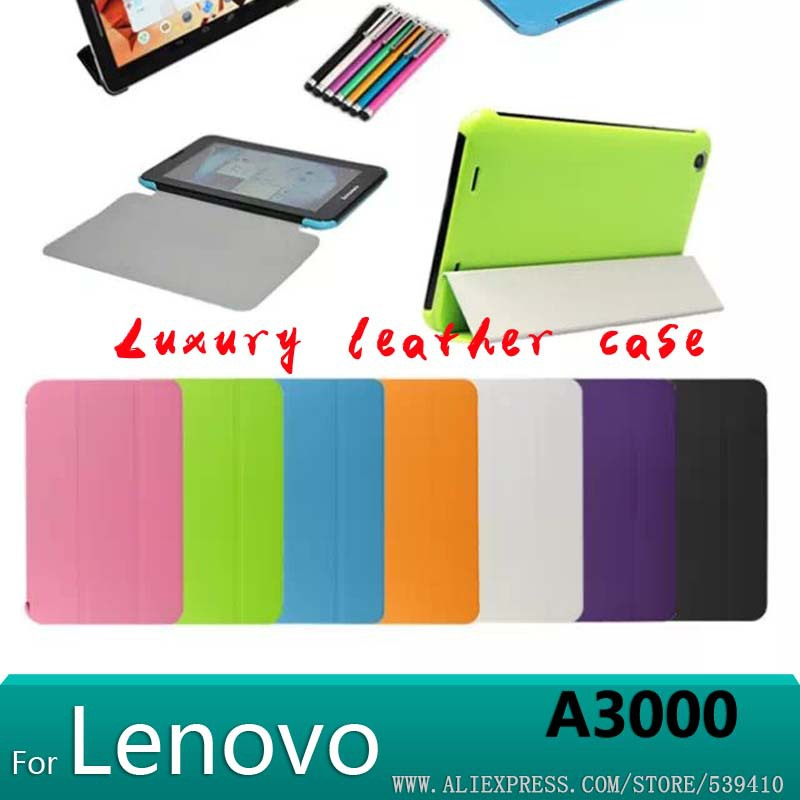 case for Lenovo A3000 case Ultrathin Luxury Stand leather Case Cover for Lenovo A3000 7 inch Tablet cover case +screen protector<br><br>Aliexpress