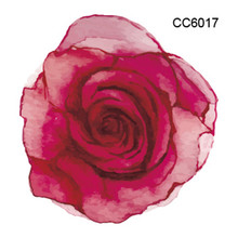 DIY 3D Mini Body Art waterproof temporary tattoos for women red rose flower design flash tattoo sticker Free Shipping CC6017