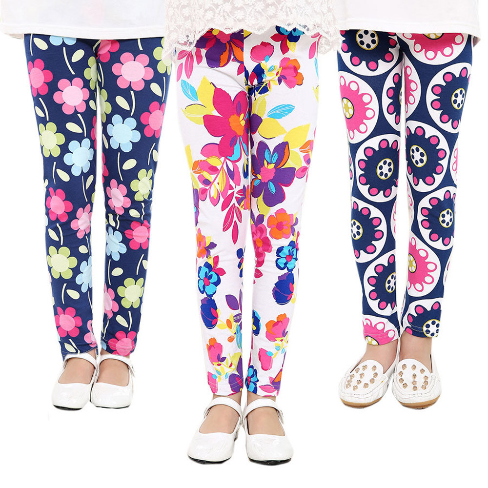MUQGEW Girl Pants Toddler Classic Leggings Polyester Children Trousers New Printing Flower Pencil Pants girls leggings W06(China (Mainland))