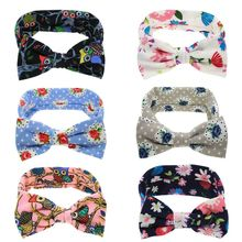 1PC Fashion girls Elastic Hair Bands Headdress Kids Rose Flowers Headwear Floral Headband Bow Knot Turban Owl Hairband