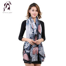 [YWJUNFU] 2017 New Fashion Soft Women Scarf Female Cotton Scarf Scarves Butterfly Long Size Girls Wraps YJF011(China)