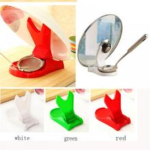 Kitchen Convenient Spoon Pot Lid Shelf Cooking Storage Kitchen Decor Tool Stand Holder Spoon Rests Pot Clips