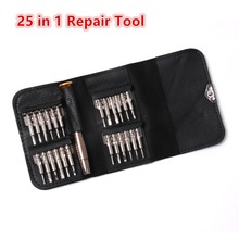 Universal 1 Set 25 in 1 Mobile Phone Car Repair Tool + 1x PU Case Tools Accessories Hot Sale High Quality New Arrivsl(China)