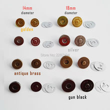 10sets 14mm 18mm Round No Sewing Handbag Leather Craft Bag Purse Wallet Magnetic Snap Press Stud Button Closure Lock Clasp(China)