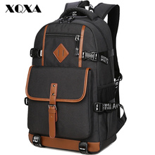 XQXA Style Oxford Backpack Men Dayback Backpack School Bag for Teenagers Boys Laptop Mochila Masculina Escolar Quality Bagpack