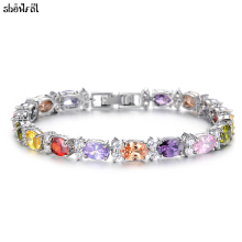 Crystals From Swarovski Cubic Zirconia Bracelets for womenFashion Brand Charm Bracelets Bangles Jewelry Zircon Romantic